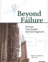 Beyond Failure Forensic Case Studies For Civil Engineers