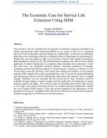 The Economic Case for Extension Using Service Life SHM